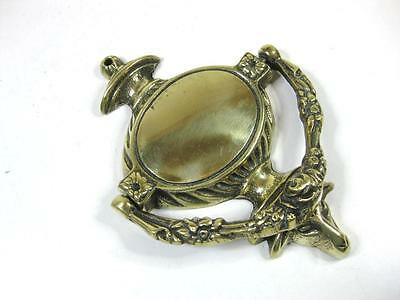 "Vintage lovely ornate design 6"" solid brass door knocker"
