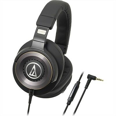 Audio-Technica Solid Bass Over-Ear Headphones with In-line Mic & Control