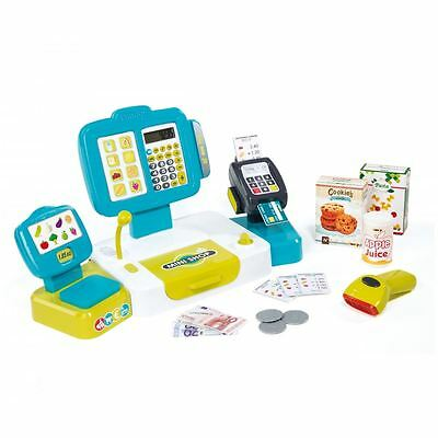 Smoby Kids Childrens Role Play Electronic Supermarket Till Cash Register Toy New