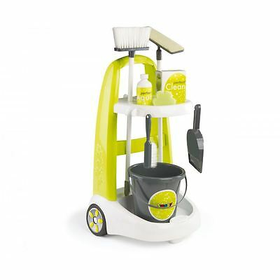 Smoby Kids Childrens Clean Service Role Play Cleaning Cart Trolley Play Set New