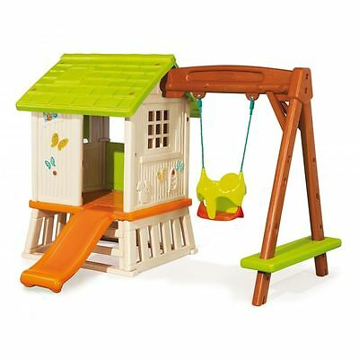 Smoby Childrens Kids Outdoor Swing Slide Playhouse Wendy Play House Set New