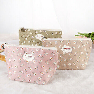 Cotton Portable Travel Cosmetic Bag Makeup Case Pouch Toiletry Wash Organizer