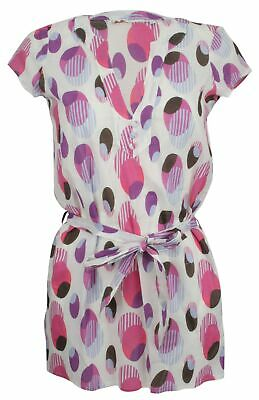 Ex Store Long Belted Top White Pink Purple Black