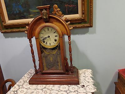 Vintage? reproduction? mantle or wall clock & Key Art Deco Victorian For Repair