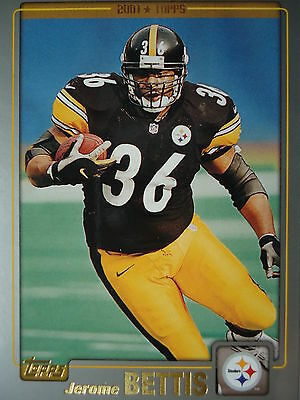 NFL 182 Jerome Bettis Pittsburgh Steelers Topps 2001