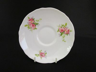 Crown Staffordshire Pink Roses 14cm Saucer