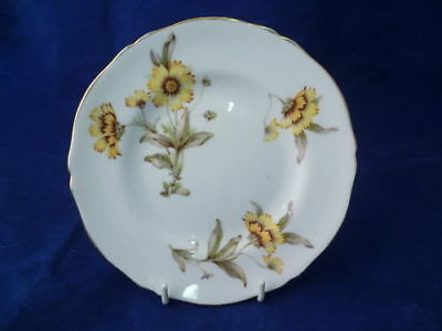 "CROWN STAFFORDSHIRE "" YELLOW FLORAL "" 15.5cm TEA PLATES"