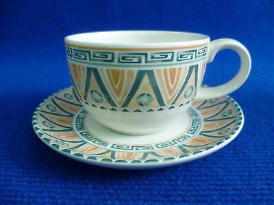 Crown Staffordshire Tunis Tea Cups And Saucers