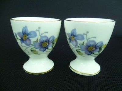 Crown Staffordshire Floral Pair Of Egg Cups