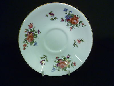 CROWN STAFFORDSHIRE FLORAL 14.5cm SAUCERS (X)