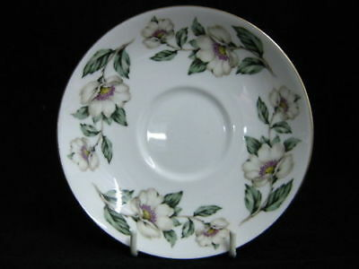 "CROWN STAFFORDSHIRE "" CHRISTMAS ROSES "" 14cm SAUCERS"