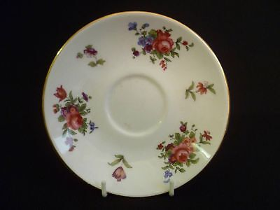 Crown Staffordshire Floral 14.5cm Saucers (uw)