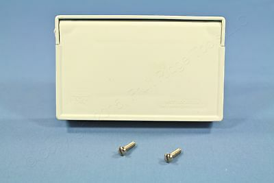 Eagle White Weatherproof Outdoor GFCI Receptacle Cover Horizontal Mount S3966W