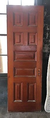 Will Ship Lovely Antique Interior Maple Door With Mirror From 1800's Mansion