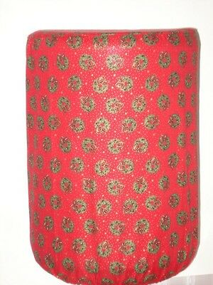 WATER COOLER BOTTLE COVER CHRISTMAS WREATH RIBBON BOW View Window Quick Shipping