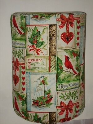 WATER COOLER BOTTLE COVER HAPPY CHRISTMAS CARDINAL HOLLY BOW Quick Shipping $2