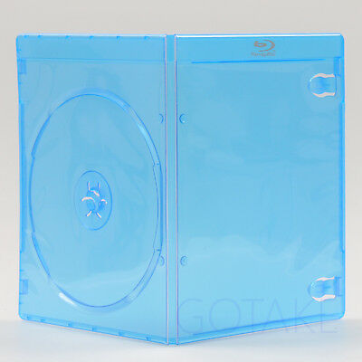 2 PCS Empty Blu-ray Logo Case 7mm Single CD DVD Disc Cover Storage Replacement