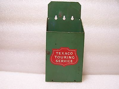 Vintage Texaco Touring Service Wall Mount Map Holder Gas and Oil Old Collectible