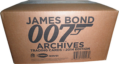 James Bond Archives 2014 Full Case of 12 Factory Sealed Boxes