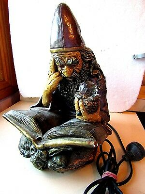 Merlin The Wizard Statue  Electric Bedside  Lamp