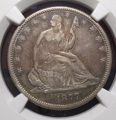Excellent original 1877-CC Seated Half Dollar NGC XF45 Carson City!!!