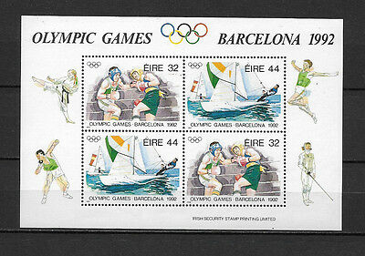 Irlande - 1992 Yt 11 Feuillet Jeux Olympiques - Timbres Neufs** Luxe