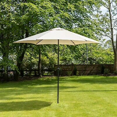 3m Aluminium Garden Parasol with Crank and Tilt - Choice of Colours