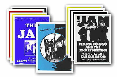 THE JAM  - 10 promotional posters - collectable postcard set # 1