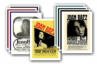 JOAN BAEZ  - 10 promotional posters - collectable postcard set # 1