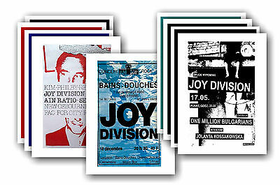 JOY DIVISION  - 10 promotional posters - collectable postcard set # 1