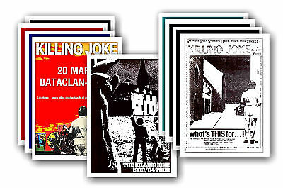 KILLING JOKE  - 10 promotional posters - collectable postcard set # 1