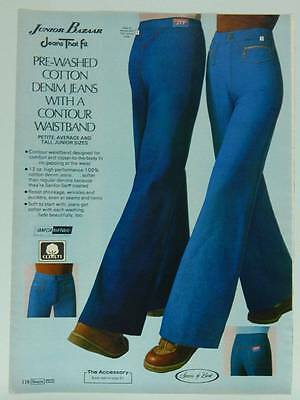 Sears Women's Clothing Junior Bazaar Jeans - Vintage 1978 Catalog Page / Ad