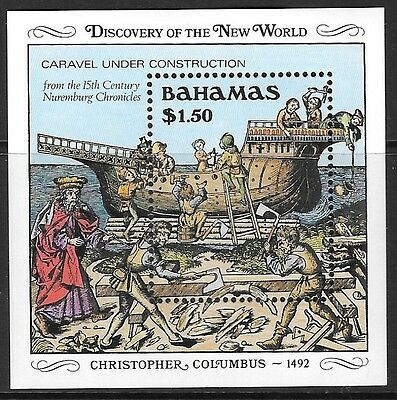 BAHAMAS SGMS848 1989 500th ANNIV OF DISCOVERY OF AMERICA BY COLUMBUS MNH