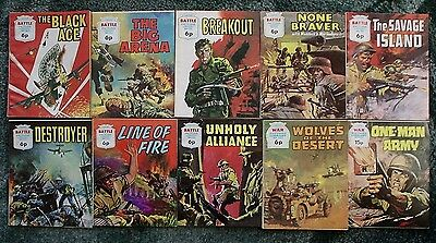 10 X Battle & War Picture Library,war Comics,bulk Lot Collection,1