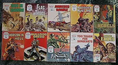 10 X Battle Picture Library,war Comics,bulk Lot Collection,2