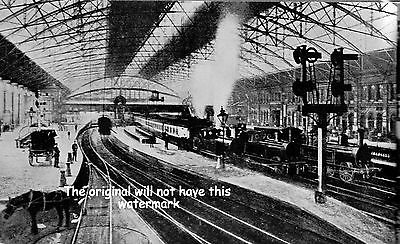 Birmingham Railway History Central Station New St 1899 Vintage Print Mounted