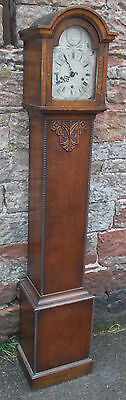 ANTIQUE Grandmother LONGCASE CLOCK In CARVED Oak CASE With WESTMINSTER Chime
