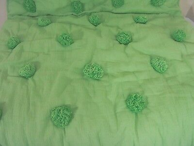 PB Pottery Barn Teen Green Pom Pom Euro Pillow Sham