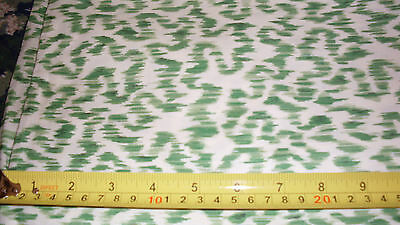 Green squiggle odd print fabric material Cyrus Clark Felicity 180x54 in trendy