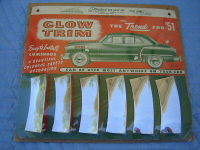 Vintage Auto Glow Trim Display With Product - New Old Stock