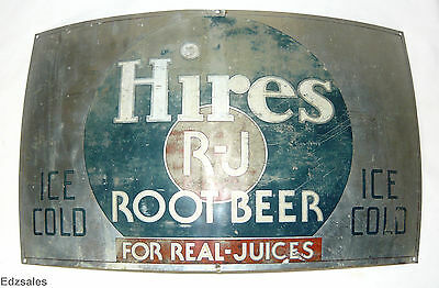 Vintage Hires R-J Real Juices Root Beer Barrel Sign
