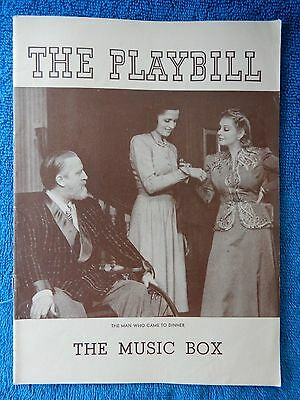 The Man Who Came To Dinner - Music Box Theatre Playbill - August 26th, 1940