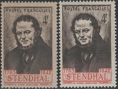 """FRANCE STAMP TIMBRE N° 550 """" STENDHAL BELLE VARIETE COULEUR """" NEUFS xx LUXE"""