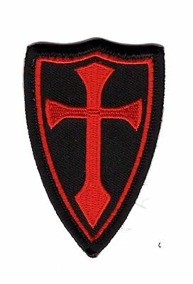 Cross Shield Crusades Tactical morale Hook Patch Red-Black