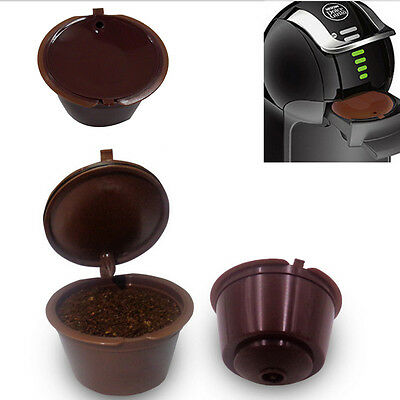 Refillable Reusable Coffee Capsules Pod Cup Set for Nescafe Dolce Gusto filter
