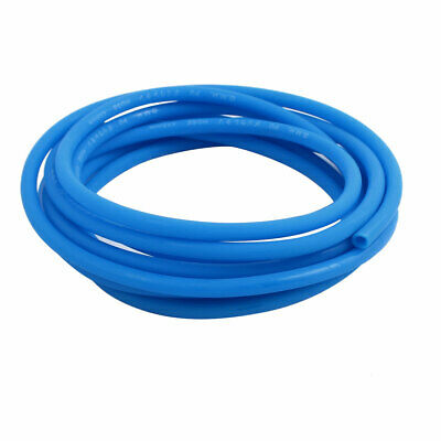 4mm x 6mm Flexible Pneumatic Polyurethane PU Hose Pipe Tube Blue 2.8m Length