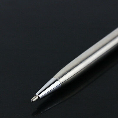 Stainless Steel Pen Ball Point Office Rotating Ballpoint Writing Stationery 1PC