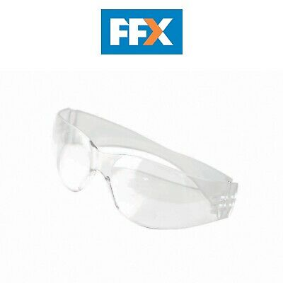 Safety Clear Goggle Vitrex Wraparound Grinding Panoramic Curved Lens Glasses NEW