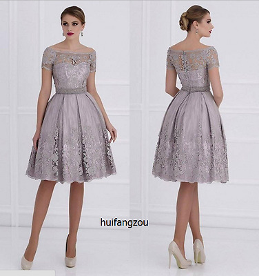 Grey Mother of the Bride Size 4 6 8 10 12 14 16 18 20 Plus Formal Prom Dresses