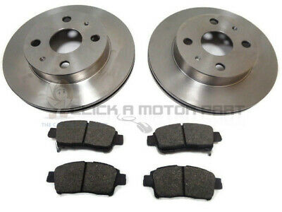Toyota Yaris 1.0 98-05  Front 2 Brake Discs And Pads Set New (Check Size & Pads)
